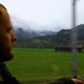 On a train, heading into Salzburg