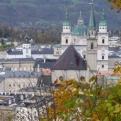 Aerial shot of Salzburg