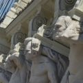 Sculptures supporting the House of Four Atlantes in Freedom Square