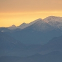 Sunset over Kalambaka as we reached Pension Arsenis