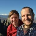 Meteora selfie (Kiri insisted!)