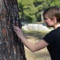 Kiri stroking a very nice tree