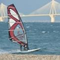Windsurfer by the Rio bridge