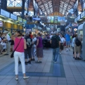 Central Market Hall - full of people, food and random things made out of lace