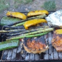 Well, we may have burnt the asparagus (very British) but it tasted great anyway