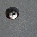 Random hole with coke can