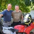 Friendly bikers, Matthew and Steve