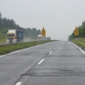 Our first experience of a Polish motorway involved a few bumps