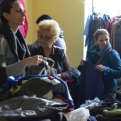 Sorting second-hand clothes ready for the sale