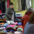 Holding the second-hand clothes sale