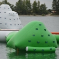 The inflatables we enjoyed playing on, once back at the campsite