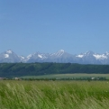 View of the Tatra Mountains from Slovenský Raj
