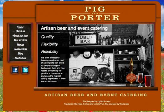 pigandporter.co.uk screenshot