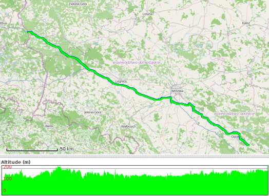 Route travelled on 27 May 2014