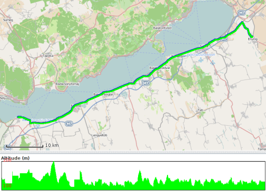 Route travelled on 17 June 2014