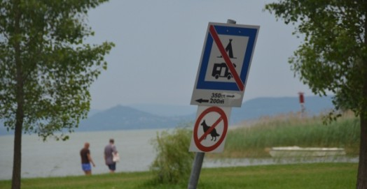 We were about 500 metres away from this sign and the police didn't seem to mind we were there